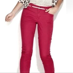 Skinny Curvy 27/4 Ann Taylor Loft Pants faded red